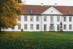 秋天在欧登塞,丹麦 库存照片