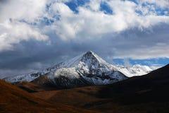 秋天在甘南藏族自治州 免版税库存图片
