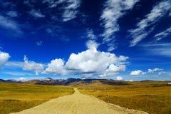 秋天在甘南藏族自治州 库存图片