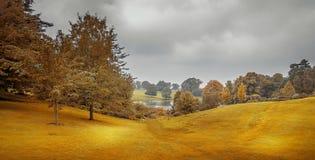 秋天在米德兰平原 库存照片