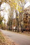 秋天在老城镇地区 免版税库存照片