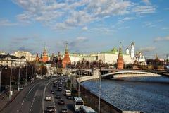 秋天在莫斯科俄罗斯克里姆林宫 免版税库存照片