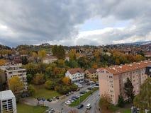 秋天在萨拉热窝, Bosnia&Herzegovina 库存照片