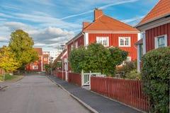 秋天在诺尔雪平,瑞典 免版税库存照片