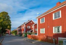 秋天在诺尔雪平,瑞典 库存图片