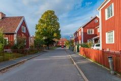 秋天在诺尔雪平,瑞典 免版税库存图片
