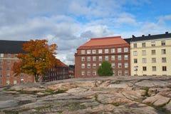 秋天在赫尔辛基 免版税库存图片