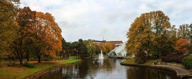 秋天在里加 库存照片
