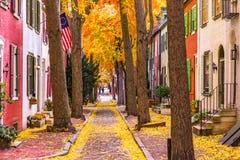 秋天在费城 库存图片