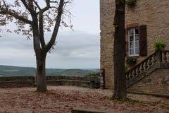秋天在Occitania 免版税库存图片
