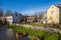 秋天在Soderkoping,瑞典 库存图片