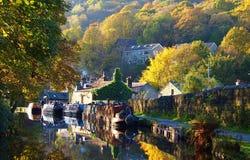秋天场面在北英国 免版税库存照片