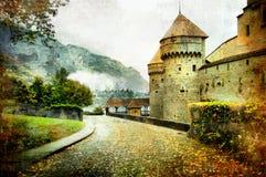 秋天城堡 免版税库存图片