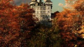 秋天城堡colores 库存照片