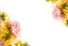 秋天多角形马赛克背景,创造性的设计模板 库存照片