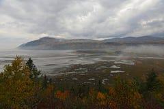 秋天天在白鹅圣徒保罗, Charlevoix,魁北克,加拿大 库存照片