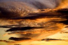 秋天天空。 库存图片
