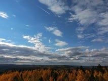 秋天天空 库存图片