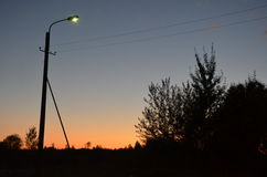 秋天太阳设置 免版税图库摄影