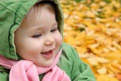 秋天婴孩叶子 免版税库存照片