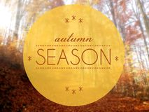 秋天季节概念性创造性的例证 库存图片