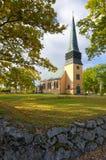 秋天季节的瑞典教会 库存图片