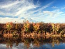 秋天密西西比河 免版税库存照片