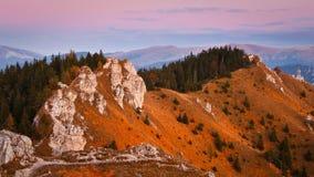 秋天山,斯洛伐克。 免版税图库摄影