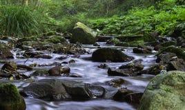 秋天岩石河,克罗地亚 库存图片