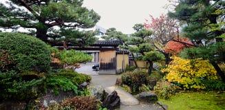 秋天庭院在京都,日本 库存照片