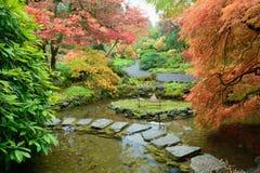 秋天庭院横向  免版税库存照片