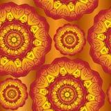 秋天抽象坛场样式 秋天背景,与装饰品的减速火箭的墙纸 抽象背景褐色排行照片 也corel凹道例证向量 库存图片