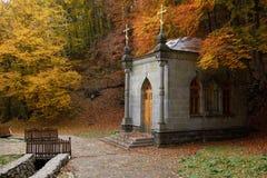秋天教堂森林 库存图片