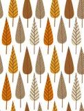 秋天无缝叶子的模式 免版税图库摄影