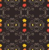 秋天无缝的样式,装饰墙纸,艺术传染媒介illust 库存照片