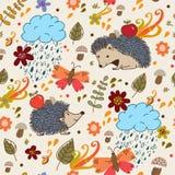 秋天无缝的纹理。 库存图片