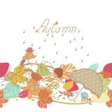 秋天无缝的边界 图库摄影