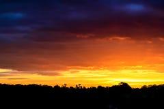 秋天日出在英国 免版税库存照片