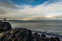 秋天早晨在冰岛 库存照片
