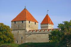 秋天明亮的城堡上色kuressaare 免版税库存照片