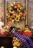 秋天显示花圈假日题材 免版税库存图片