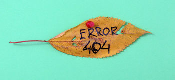 秋天有手写的文本的核桃叶子 库存照片