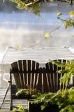秋天有薄雾的早晨 免版税库存照片