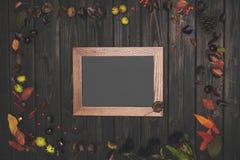 秋天构成和框架 图库摄影