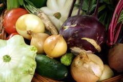 秋天构成蔬菜 免版税图库摄影