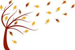 秋天树例证 库存照片