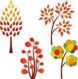 秋天树例证 库存图片