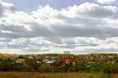 秋天树的明亮的颜色 秋天 库存图片