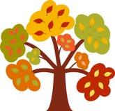 秋天树,树传染媒介 免版税图库摄影