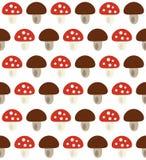 秋天样式用蘑菇 皇族释放例证